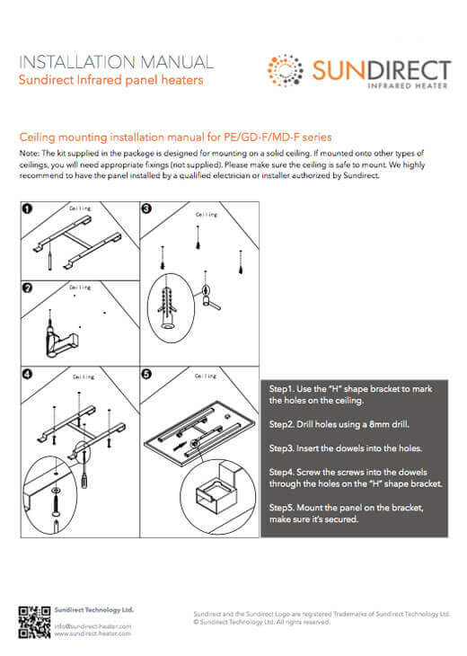 Ceiling mounting manual PE(BC004_BC005)