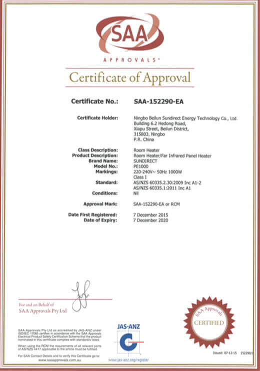 Sundirect_SAA_Certification
