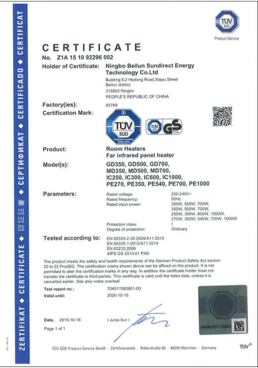 Sundirect_GS_Certification