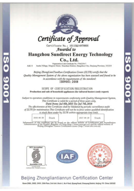 Sundirect_ISO9001_Certification