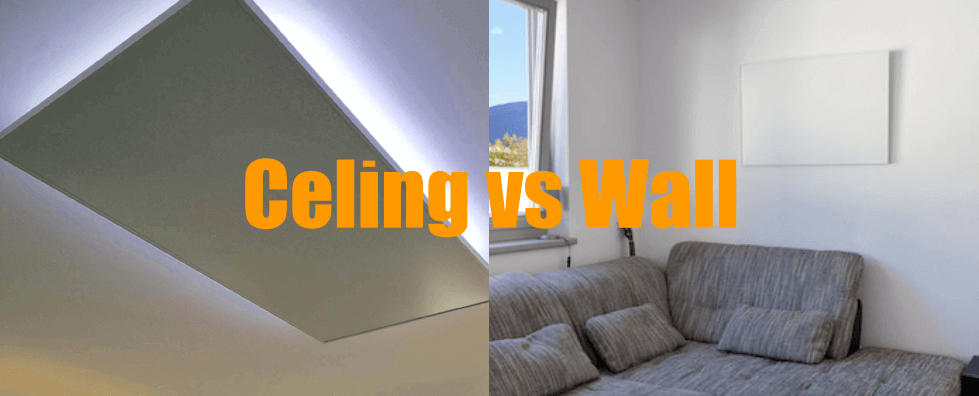 Infrared heating panels: ceiling or wall mounting?