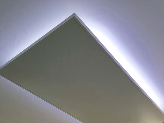 Infrared Heater Ceiling Mounted Together With Led Lighting