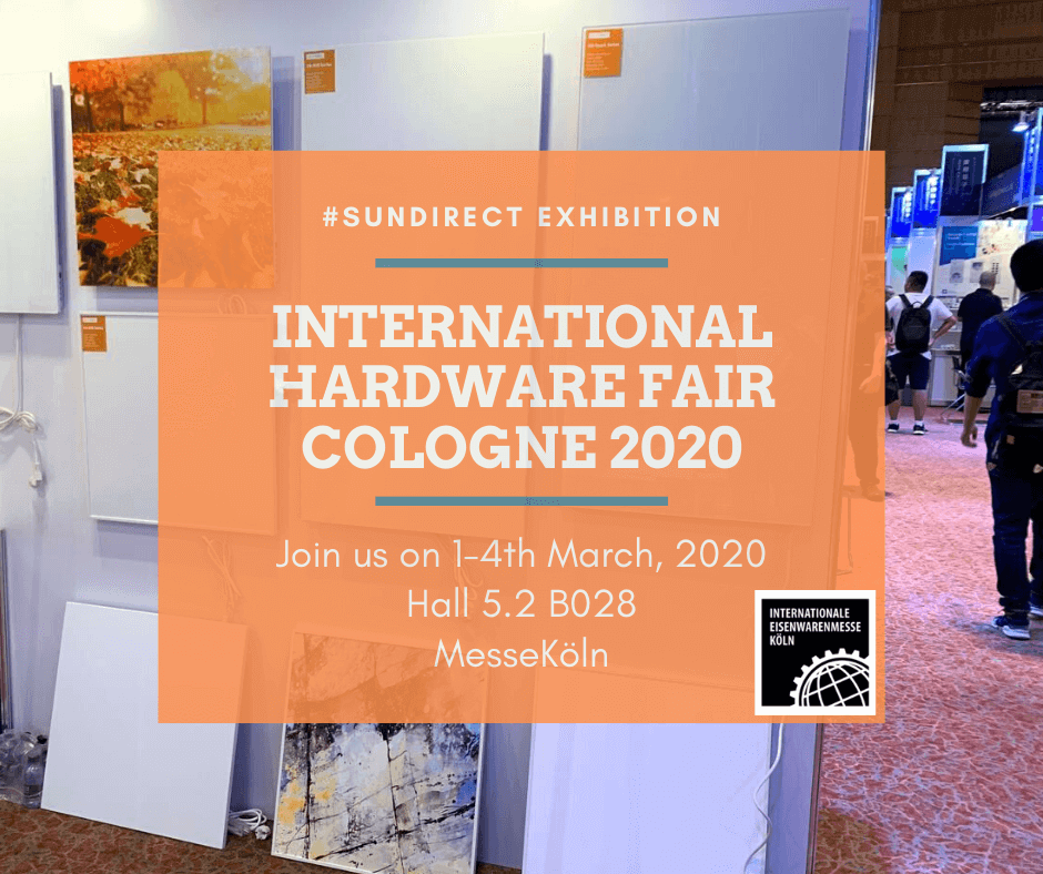Sundirect will exhibit at the International Hardware Fair in Cologne